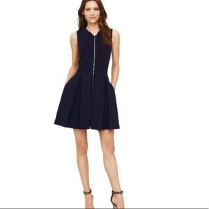 • Club Monaco • Sophie Knit Zip Front Dress Navy